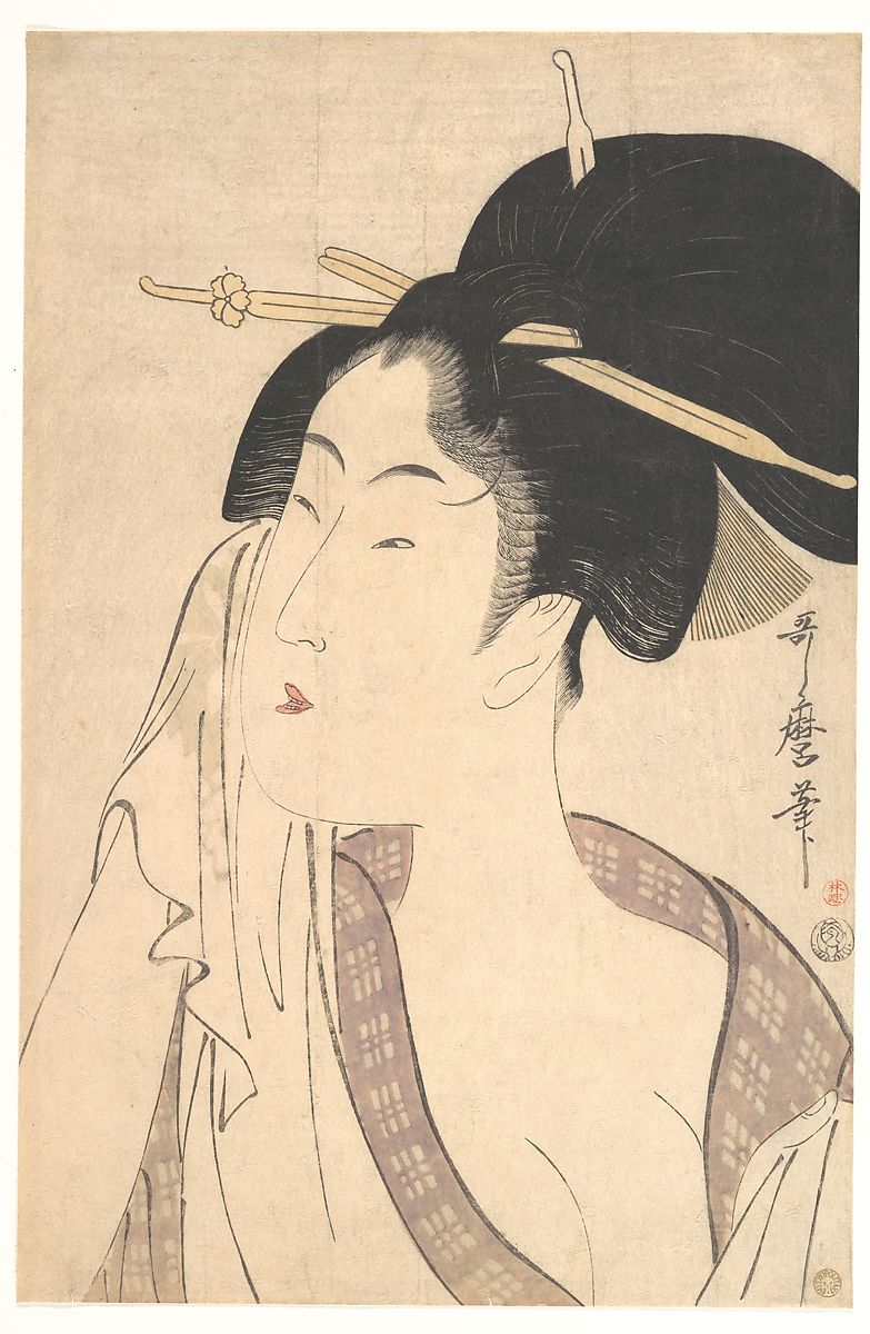 Kitagawa Utamaro | Woman Relaxing after Her Bath | Japan | Edo period (1615–1868) | The Met