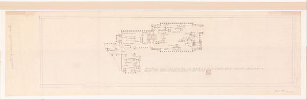 Francis W. Little House: Furniture Plan, Frank Lloyd Wright (American,  Richland