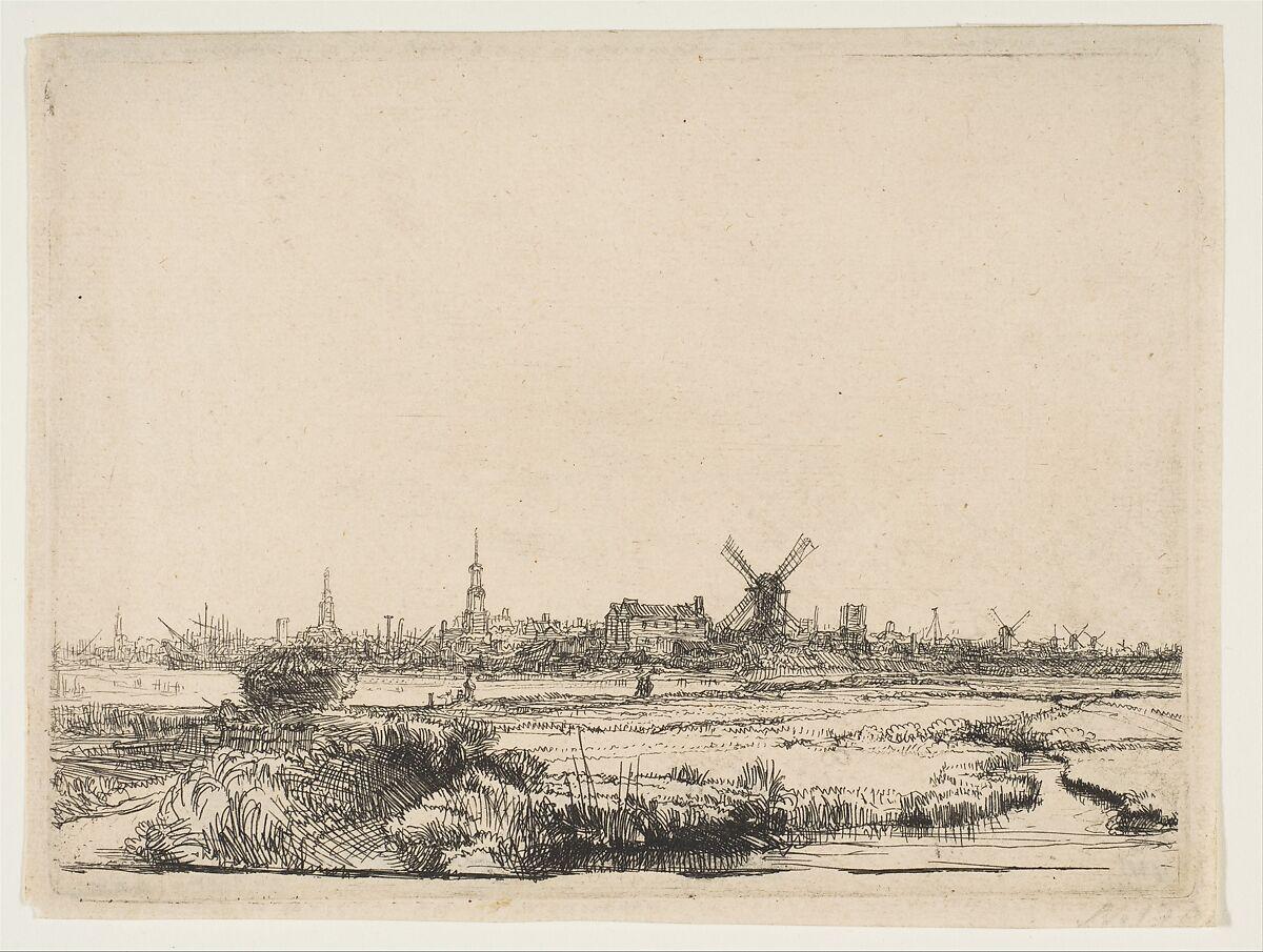 Rembrandt (Rembrandt van Rijn) | View of Amsterdam from the Northwest | The Met