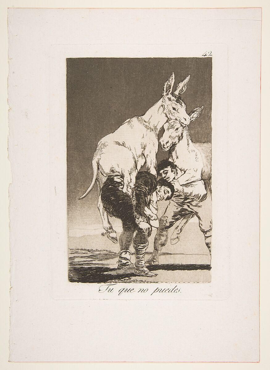 Goya (Francisco de Goya y Lucientes)   Plate 42 from 'Los ...
