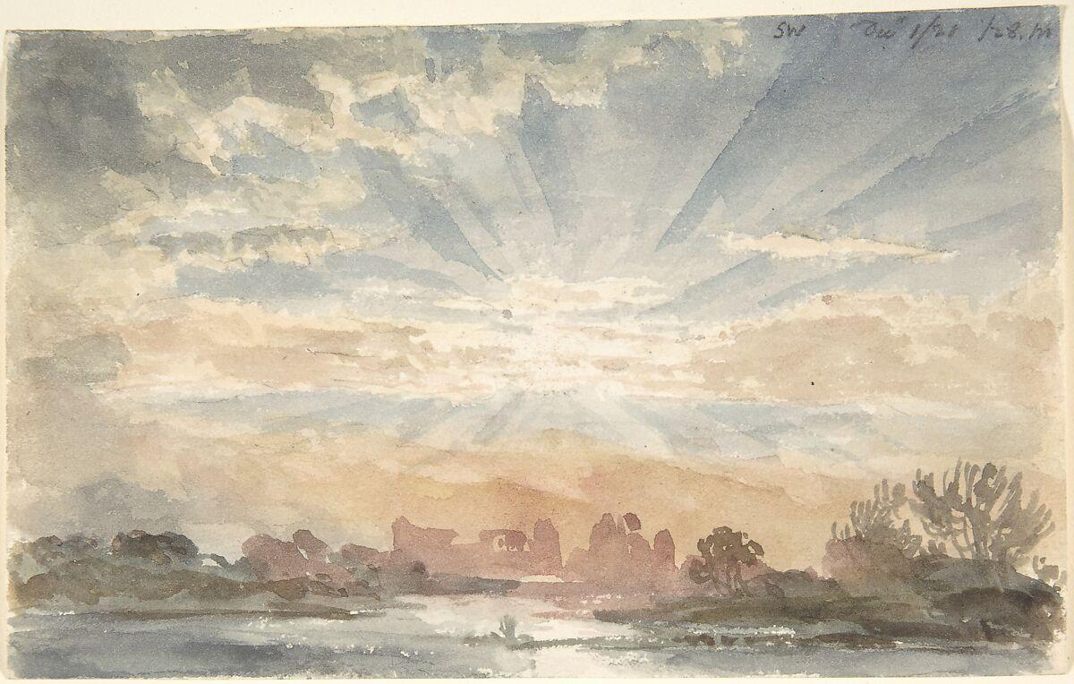 Joseph Michael Gandy   Landscape with Rising Sun, December 1, 1828, 8:30 a.m.   The Met