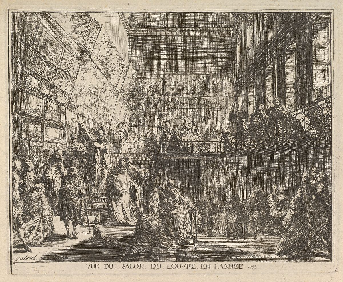 Vue du Salon du Louvre en l'année 1753, Gabriel de Saint-Aubin