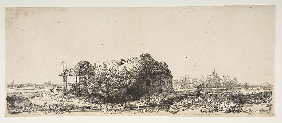 Rembrandt (Rembrandt van Rijn) | Landscape with a Cottage and a Haybarn | The Met