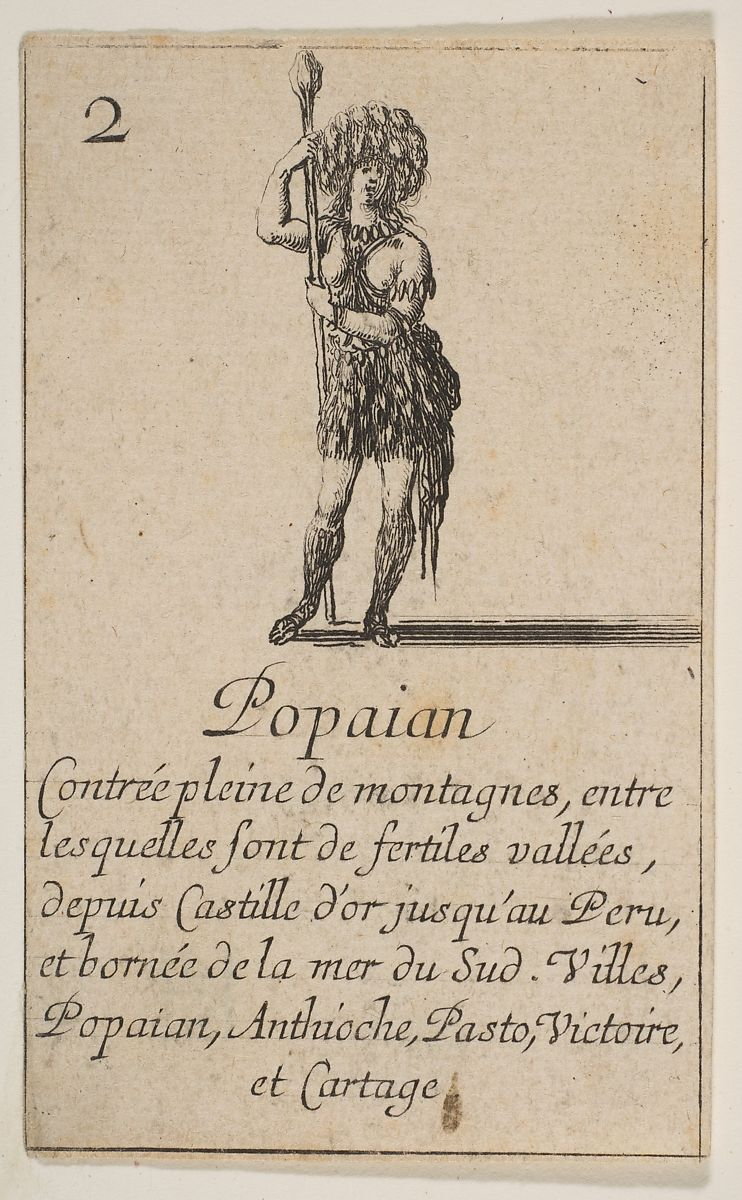 Etched by Stefano della Bella | Popayan, from 'Game of Geography' (Jeu de la Géographie) | The Met