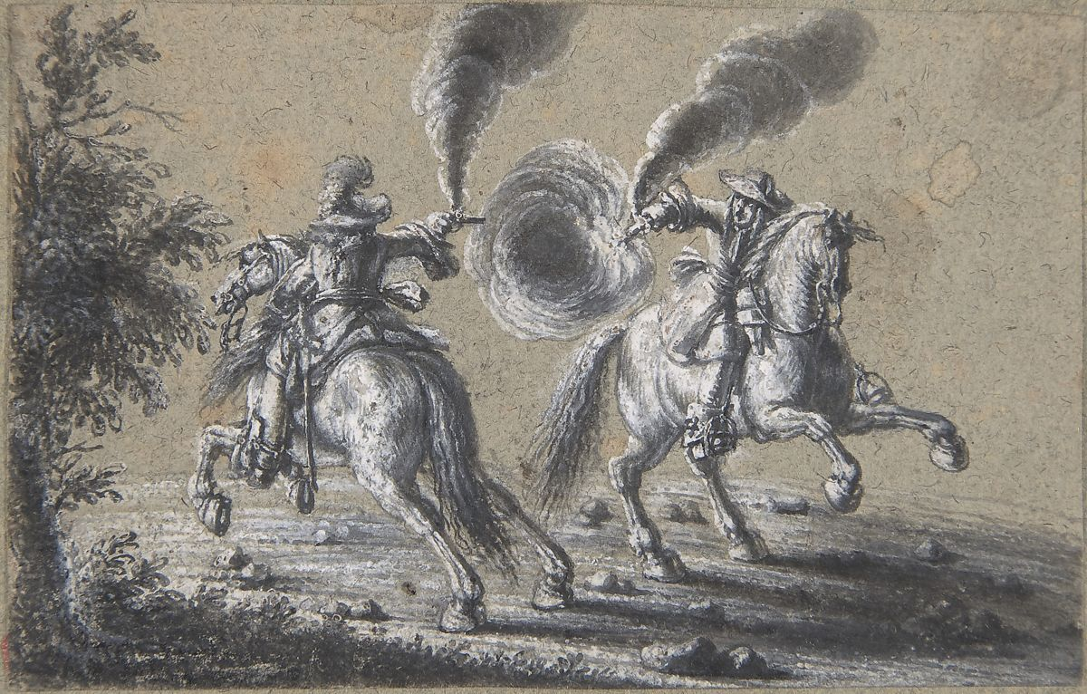 Heinrich Werdmüller | Two Horsemen Shooting at Each Other | The Met