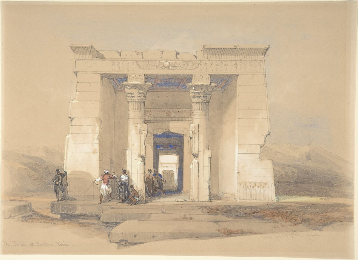 David Roberts | The Temple at Dendur, Nubia | The Met