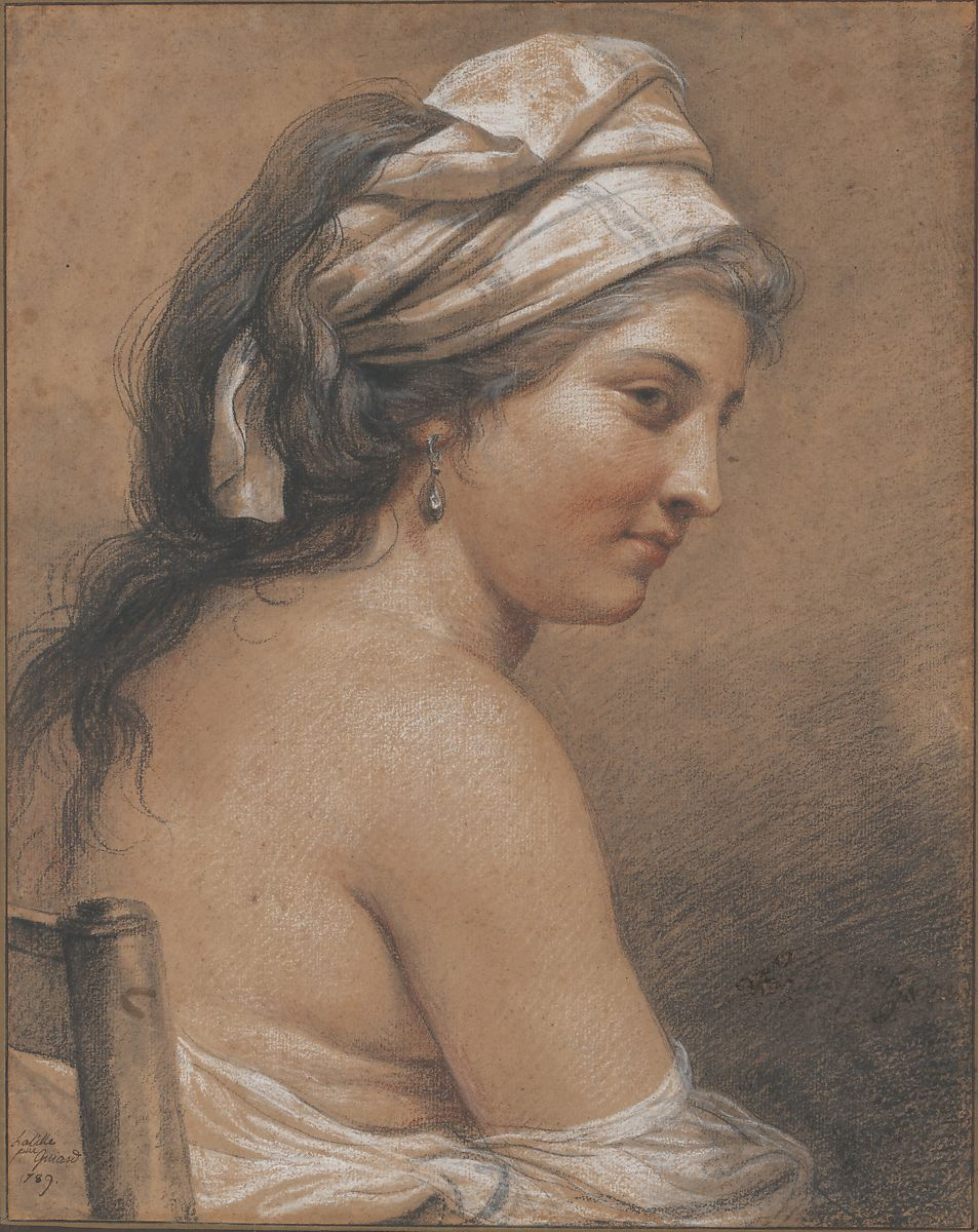 Adélaïde Labille-Guiard | Study of a Seated Woman Seen from Behind (Marie-Gabrielle Capet) | The Met