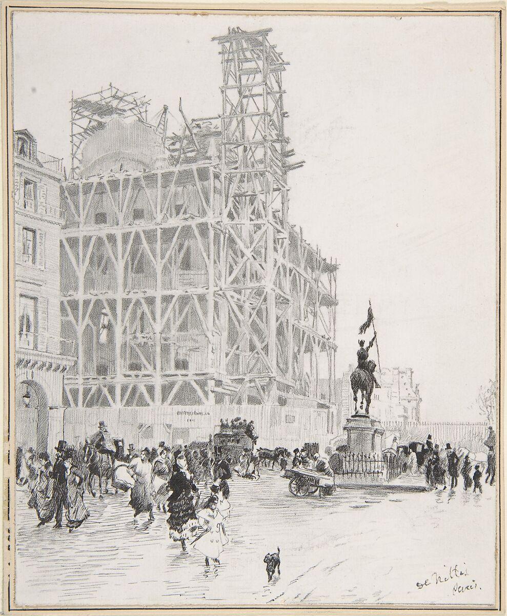 Giuseppe de Nittis   Place des Pyramides, Paris   The Met