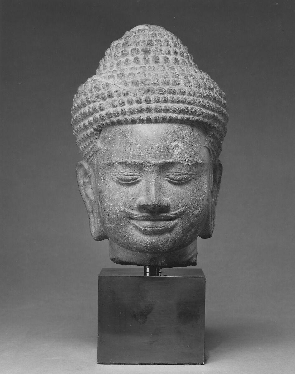 Head of a Buddha, Stone, Cambodia