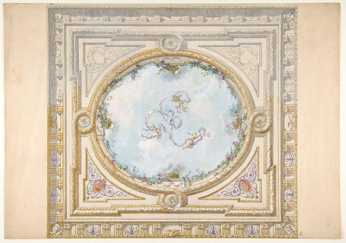 Design For A Ceiling In Rococo
