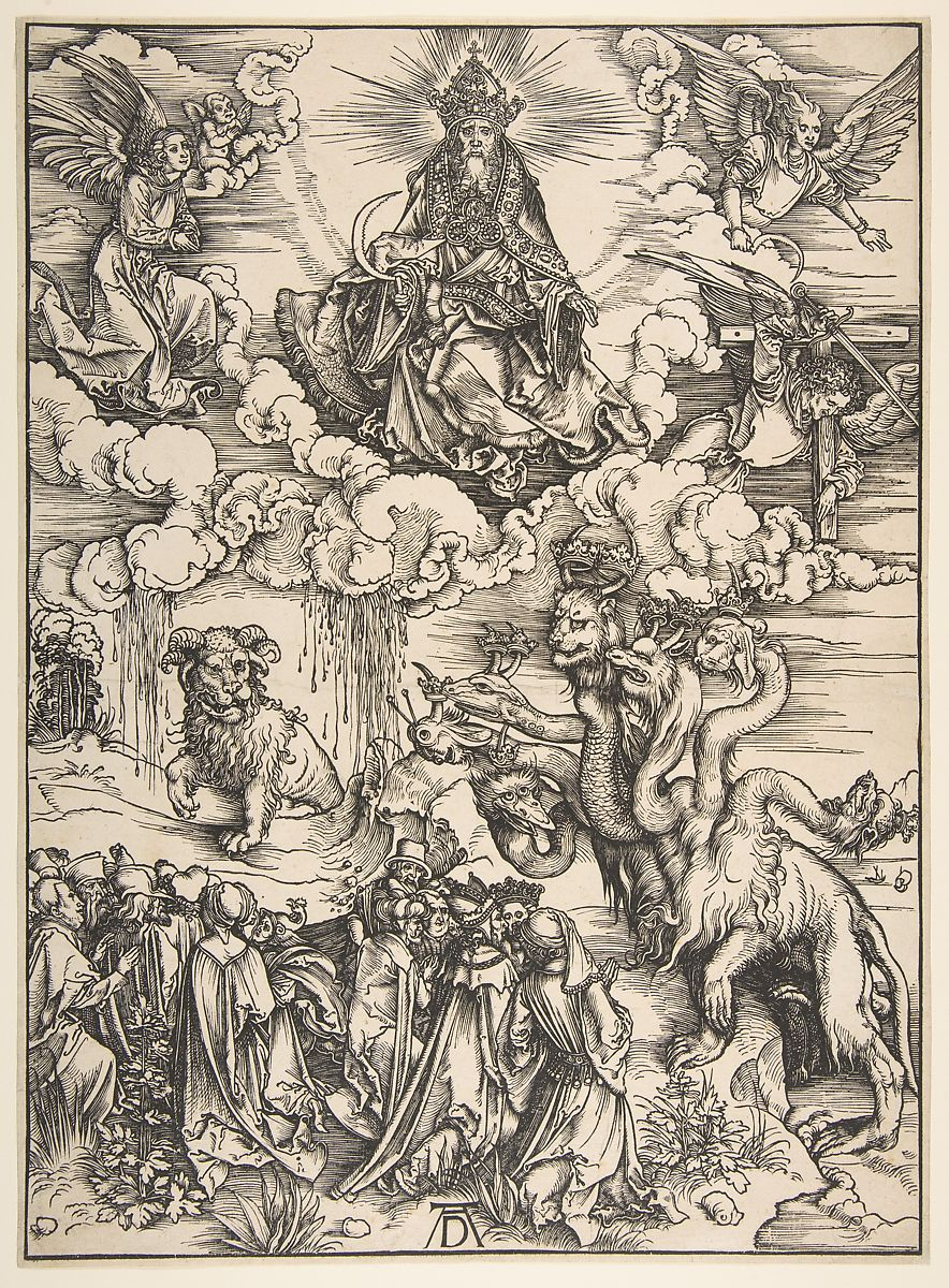 Albrecht Dürer | The Beast with the Seven Heads and the Beast with Lamb's Horns | The Met