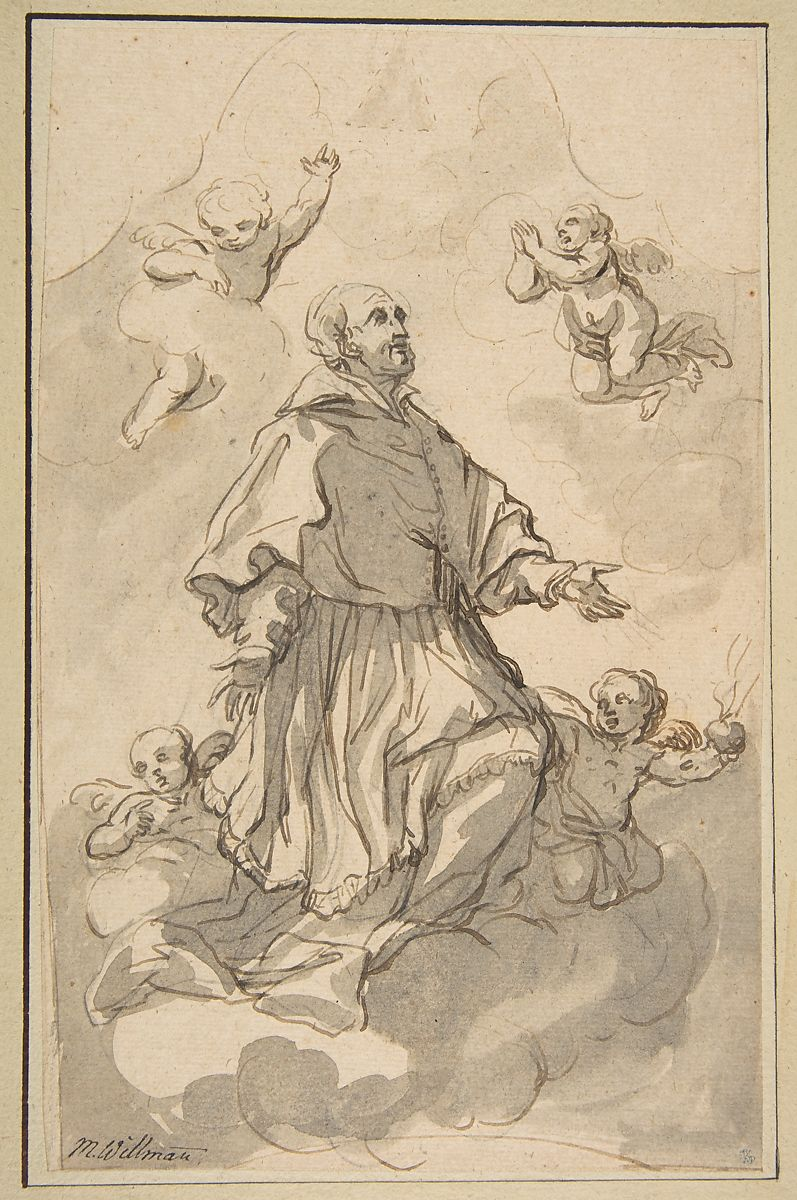 Saint Augustine on Clouds Surrounded by Angels,1667–1744 Johann Jacob Eybelwieser Austrian