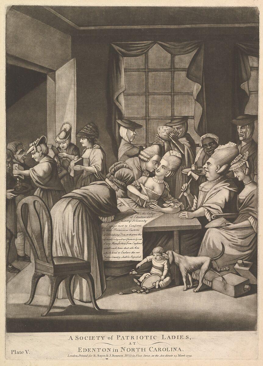 A Society of Patriotic Ladies at Edenton in North Carolina, Attributed to Philip Dawe (British, 1745?–?1809), Mezzotint