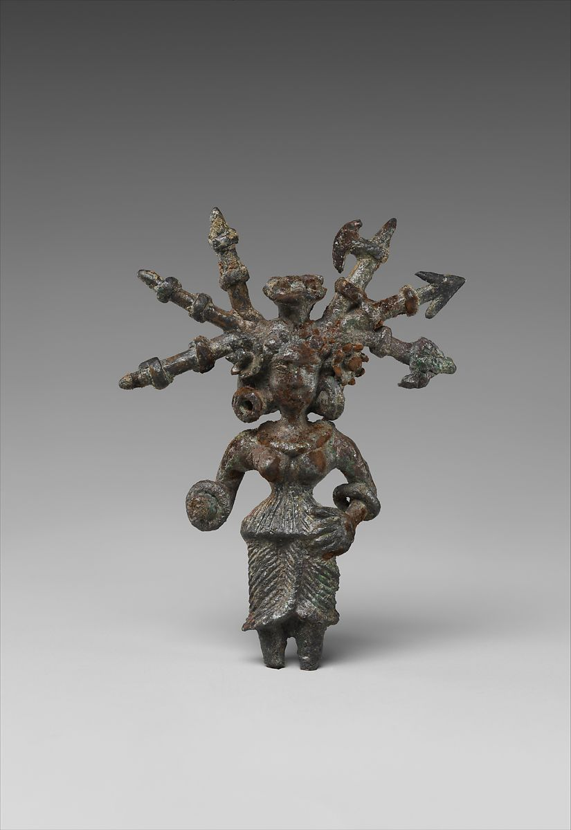 Goddess with Weapons in Her Hair | North India (possibly Kausambi, Uttar Pradesh) | The Met