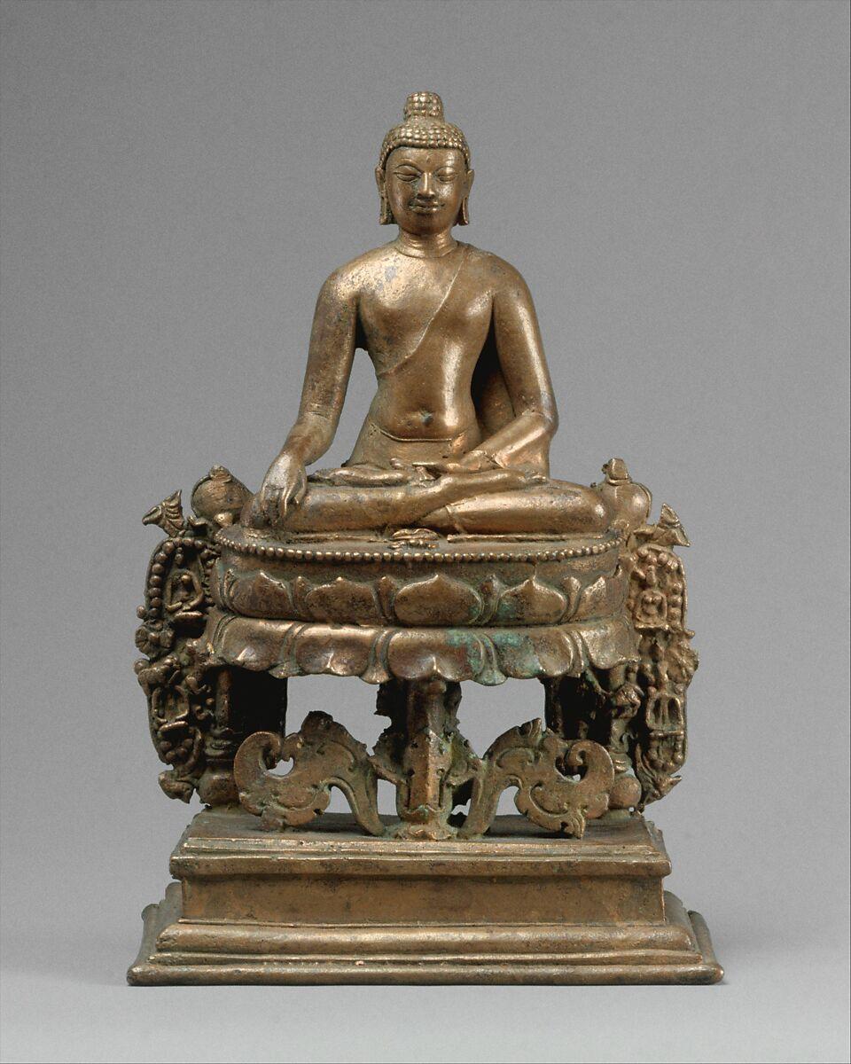 Lotus-Enthroned Buddha Akshobhya, the Transcendent Buddha
