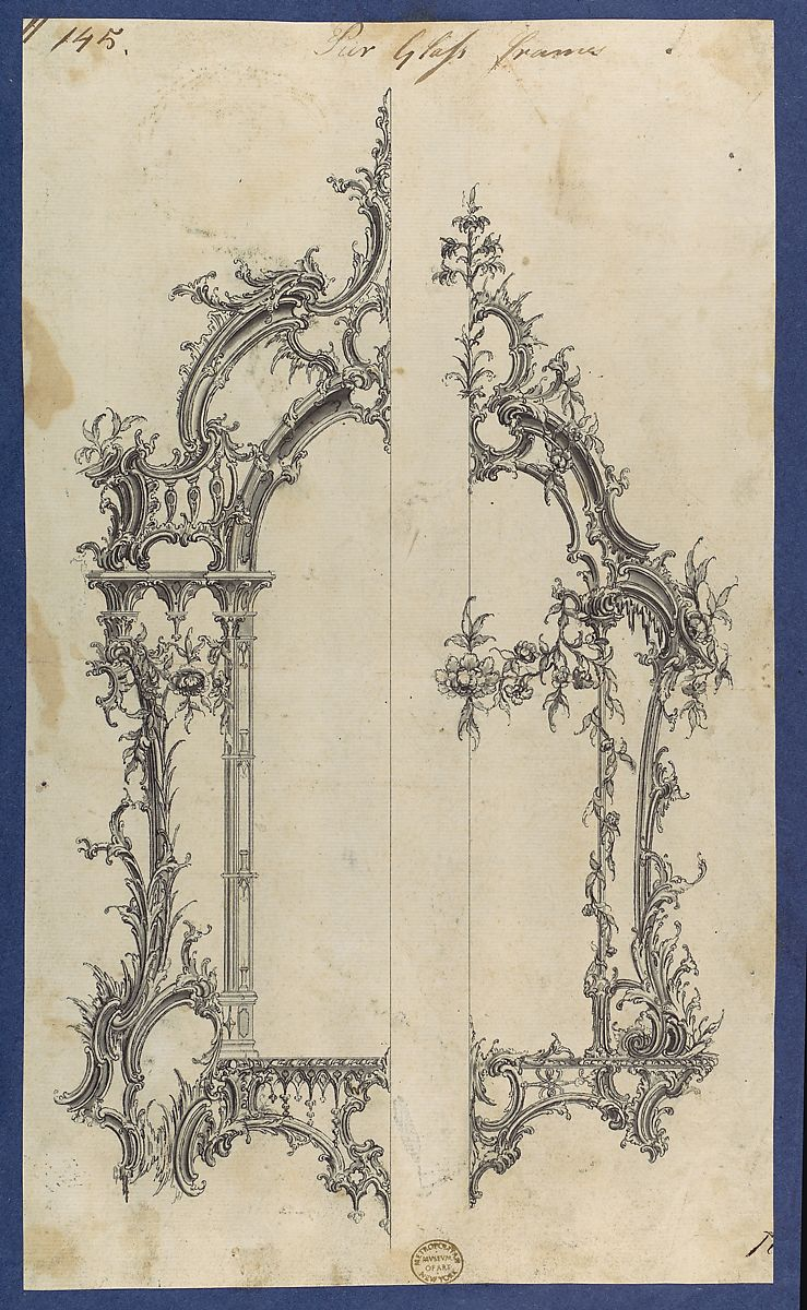Pier Glass Frames, in Chippendale Drawings, Vol. I | Thomas ...