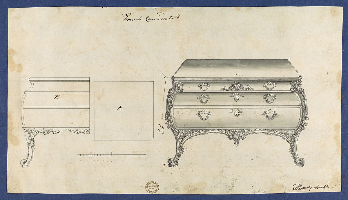 Thomas Chippendale | French Commode Table, From Chippendale Drawings, Vol.  II | The Met