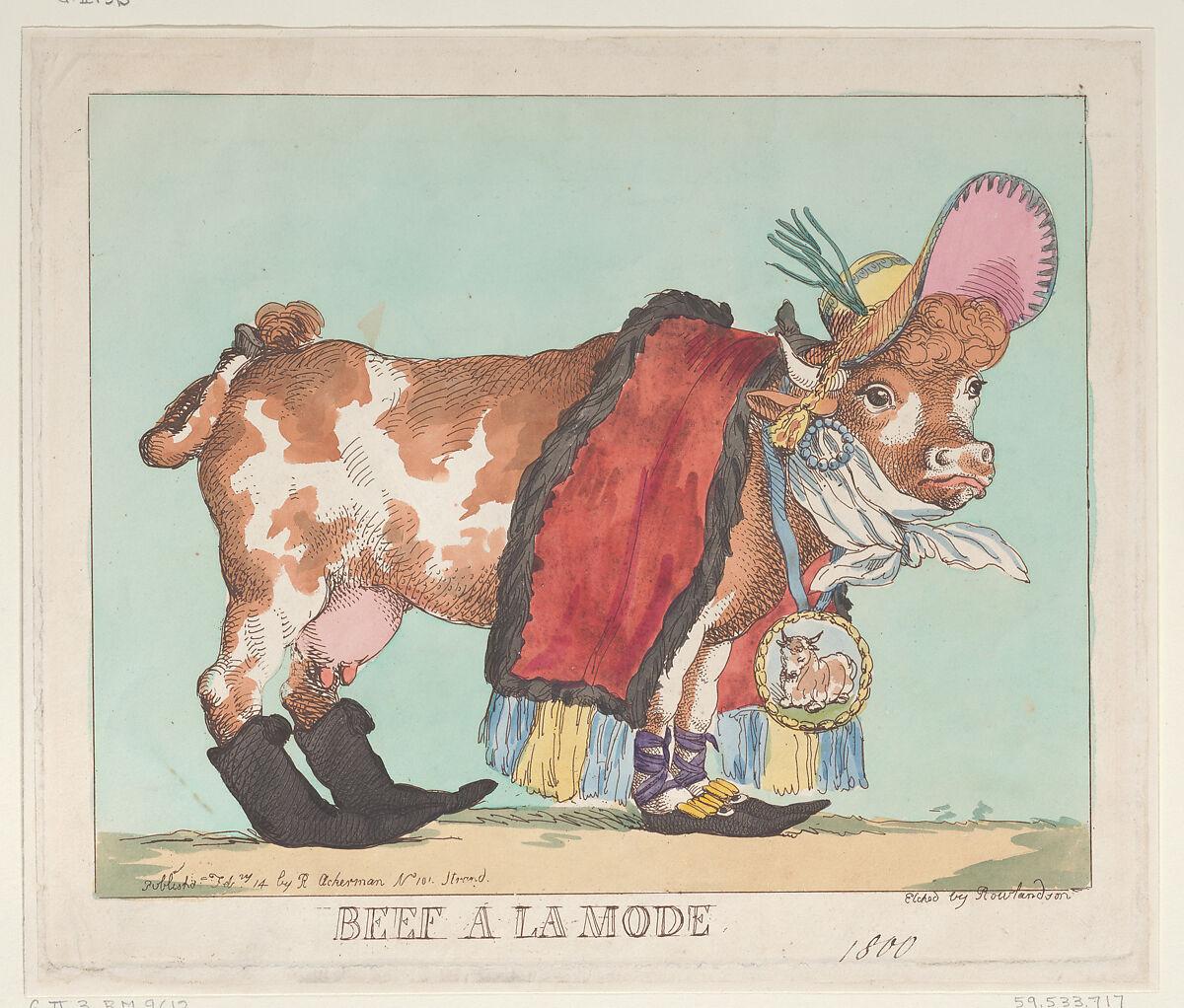 Thomas Rowlandson | Beef à la Mode | The Met