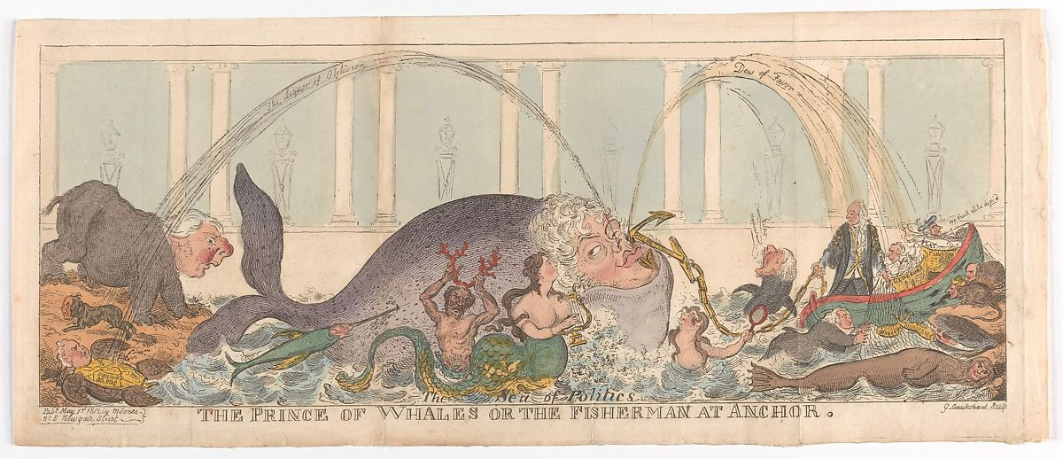 George Cruikshank | The Prince of Whales or the Fisherman at Anchor | The Met