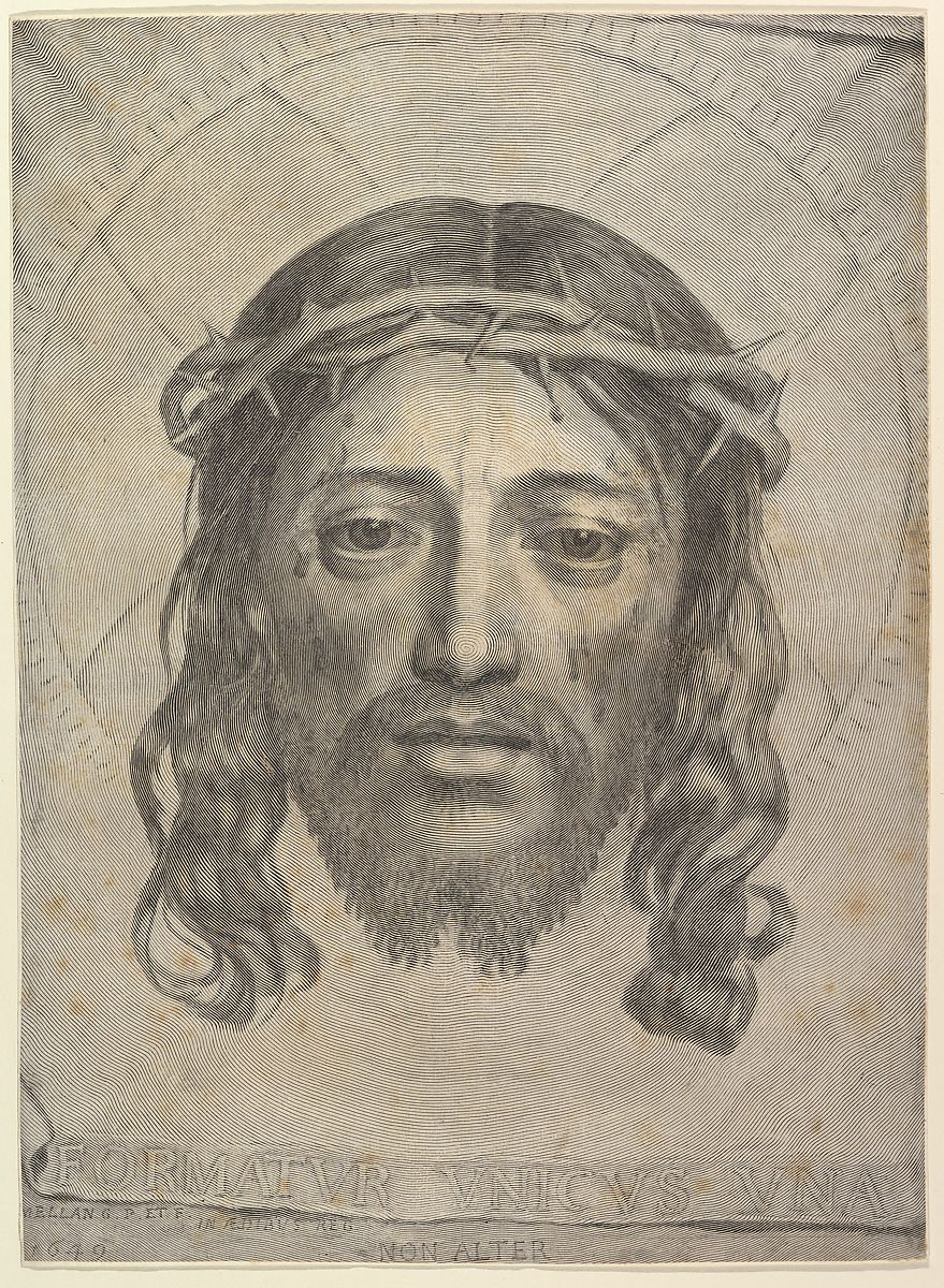 Claude Mellan | Face of Christ on St. Veronica's Cloth | The Met