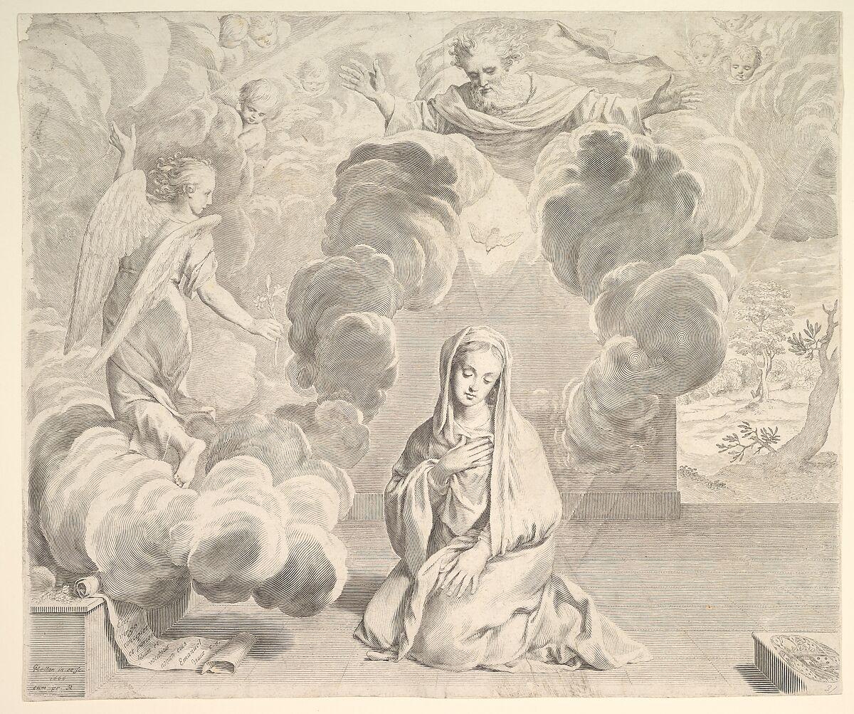 Claude Mellan | Annunciation | The Met