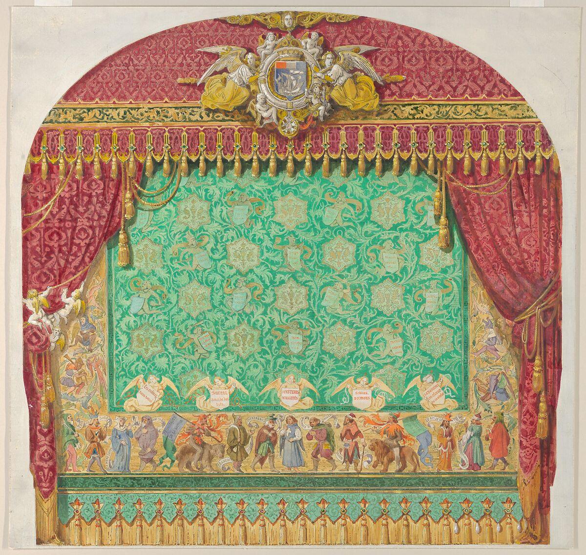 Manufacture Francaise Des Textiles D Ameublement aimé chenavard | design for a theater curtain | the met