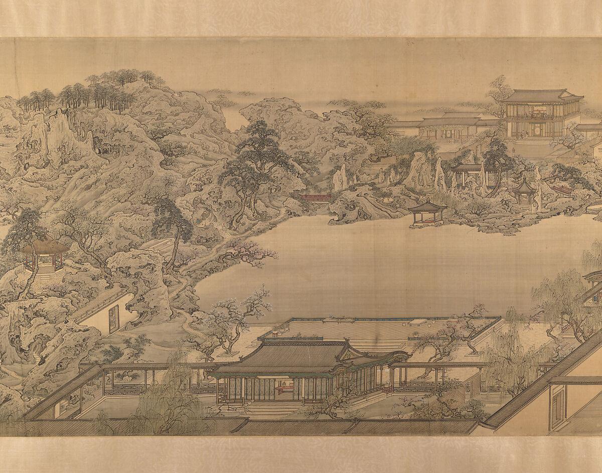 After Yuan Jiang | View of a Garden Villa | China | Qing dynasty ...