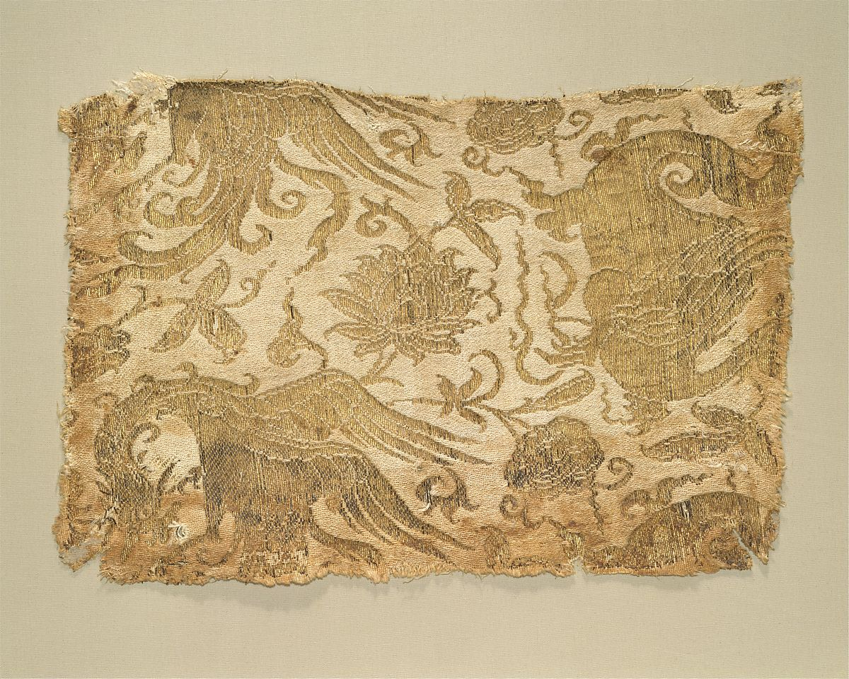 Textile with phoenix winged animal and flowers central asia the met textile with phoenix winged animal and flowers silk and metallic thread lampas central mightylinksfo