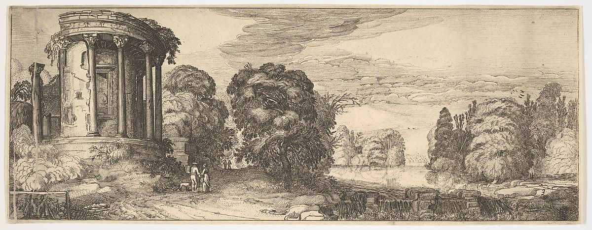 The Temple of the Sibyl at Tivoli (from Landscapes and Ruins), Jan van de Velde II (Dutch, Rotterdam or Delft ca. 1593–1641 Enkhuizen), Etching