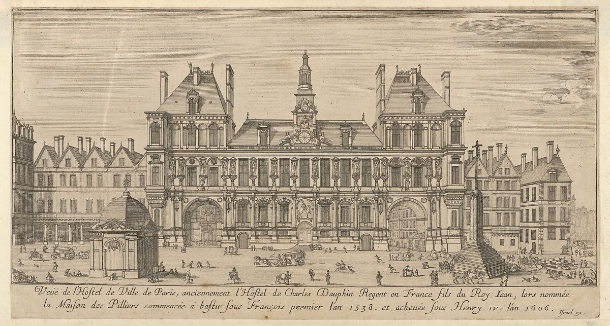 Israel Silvestre | View of the facade of the Hôtel de Ville, Paris ...