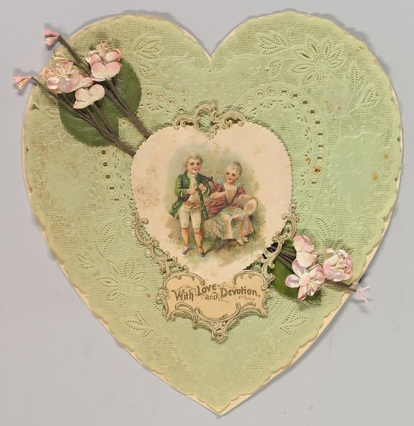 anonymous british or american 19th century heart shaped