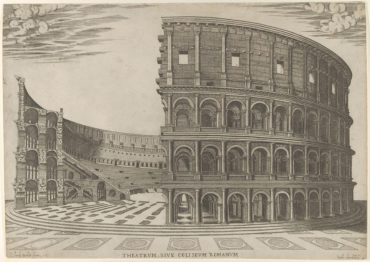 Giovanni Ambrogio Brambilla Section And Elevation Of The