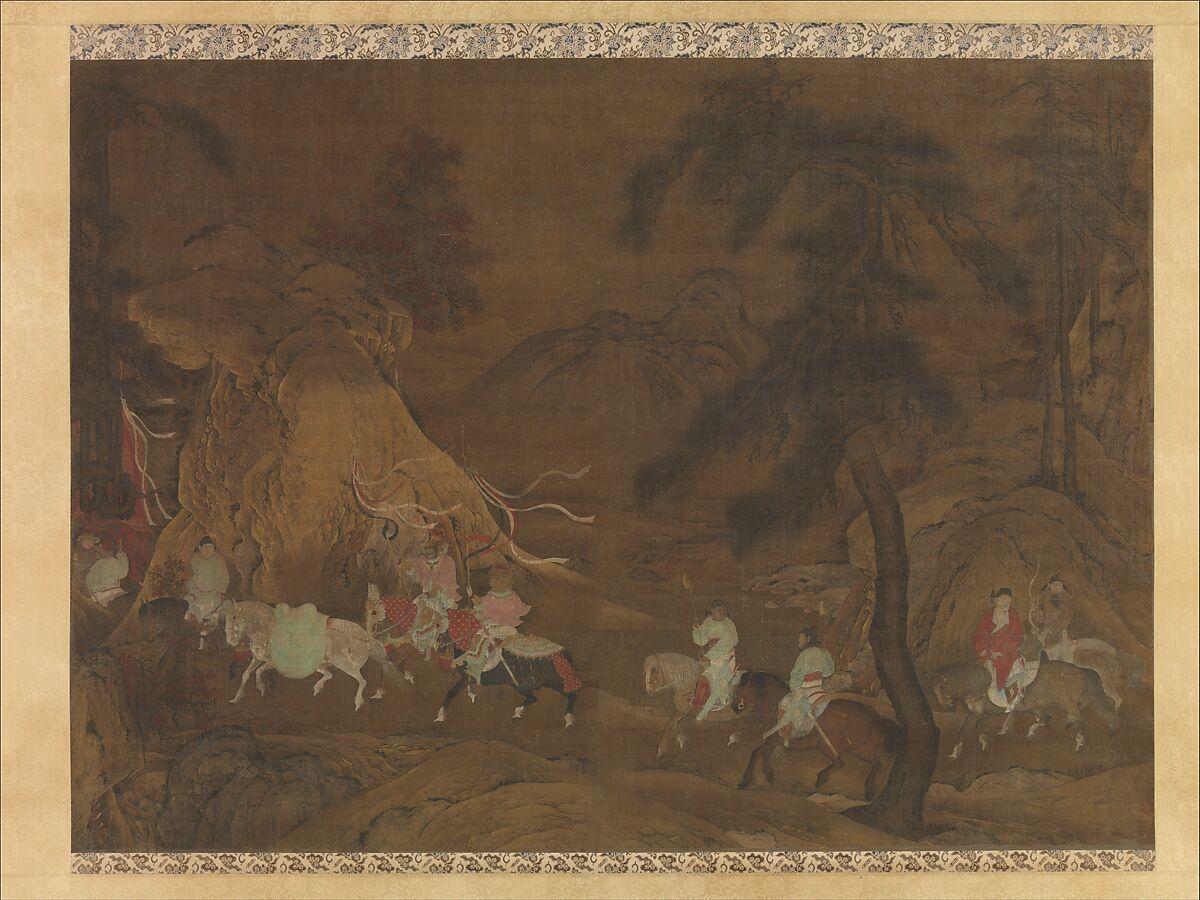 unidentified artist emperor xuanzong s flight to shu china
