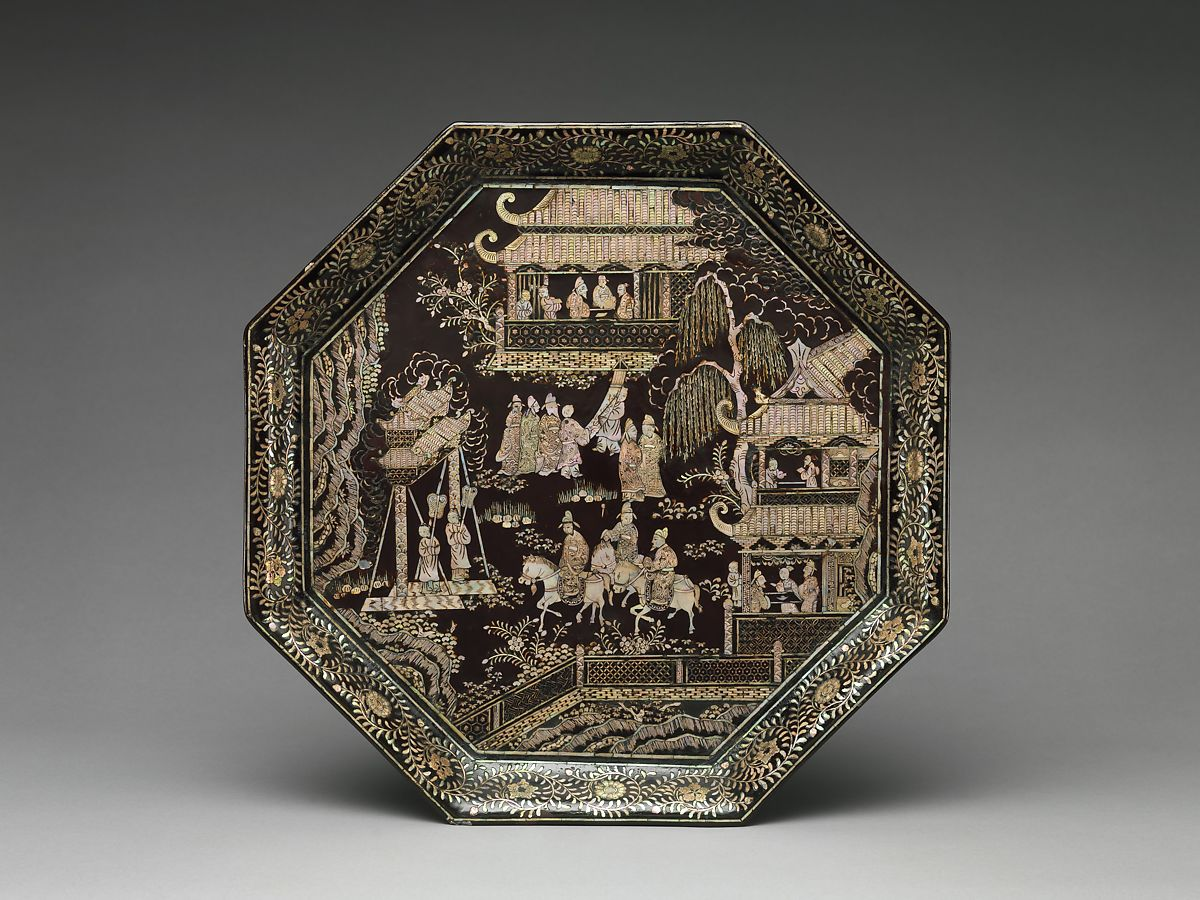 Tray with scholars   China   Ming dynasty (1368–1644)   The Met