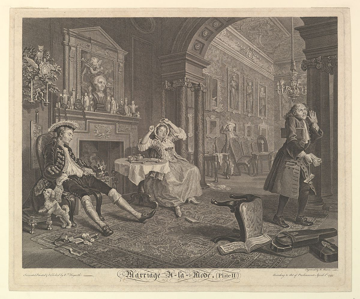 Bernard Baron | Marriage A-la-Mode, Plate II | The Met