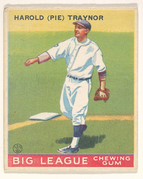 Goudey Gum Company Harold Pie Traynor Pittsburgh