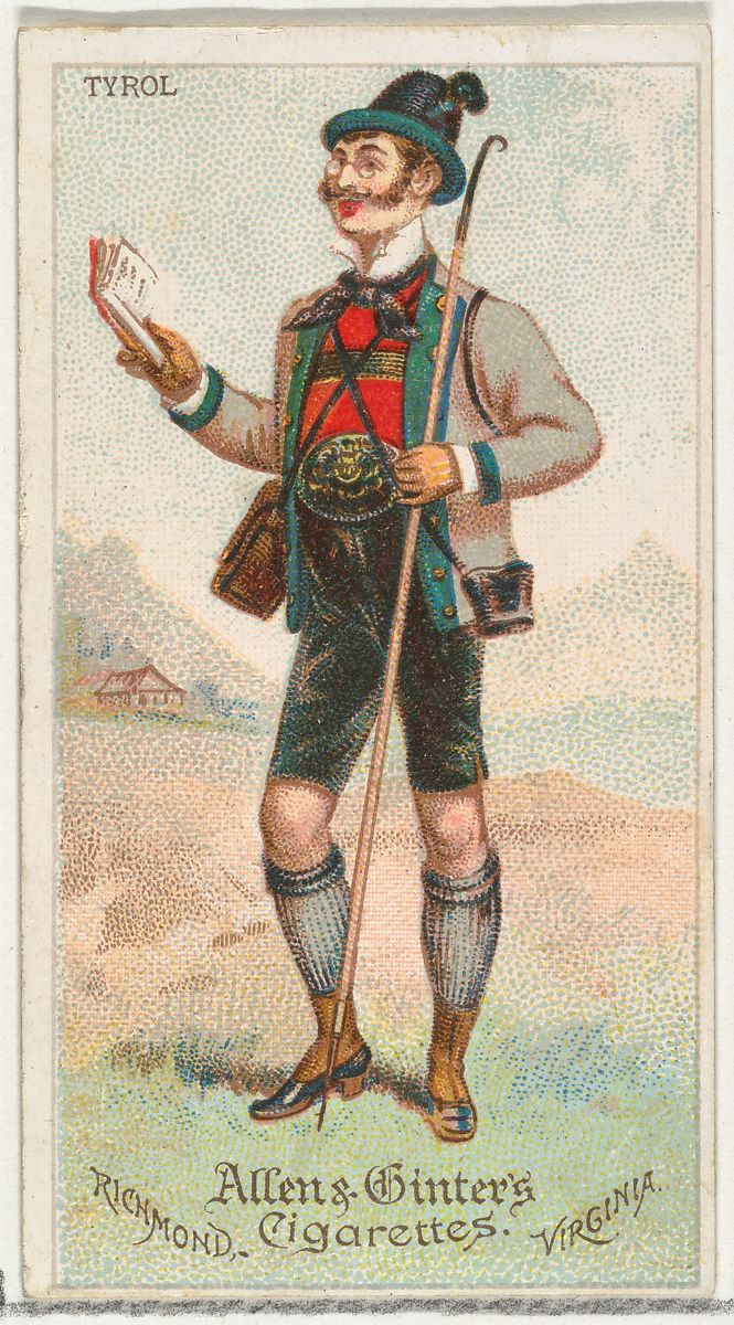 Allen & Ginter | Tyrol, from World's Dudes series (N31) for Allen & Ginter Cigarettes | The Met