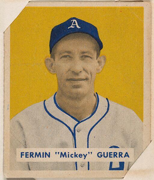 Bowman Gum Company Fermin Mickey Guerra Part Of The