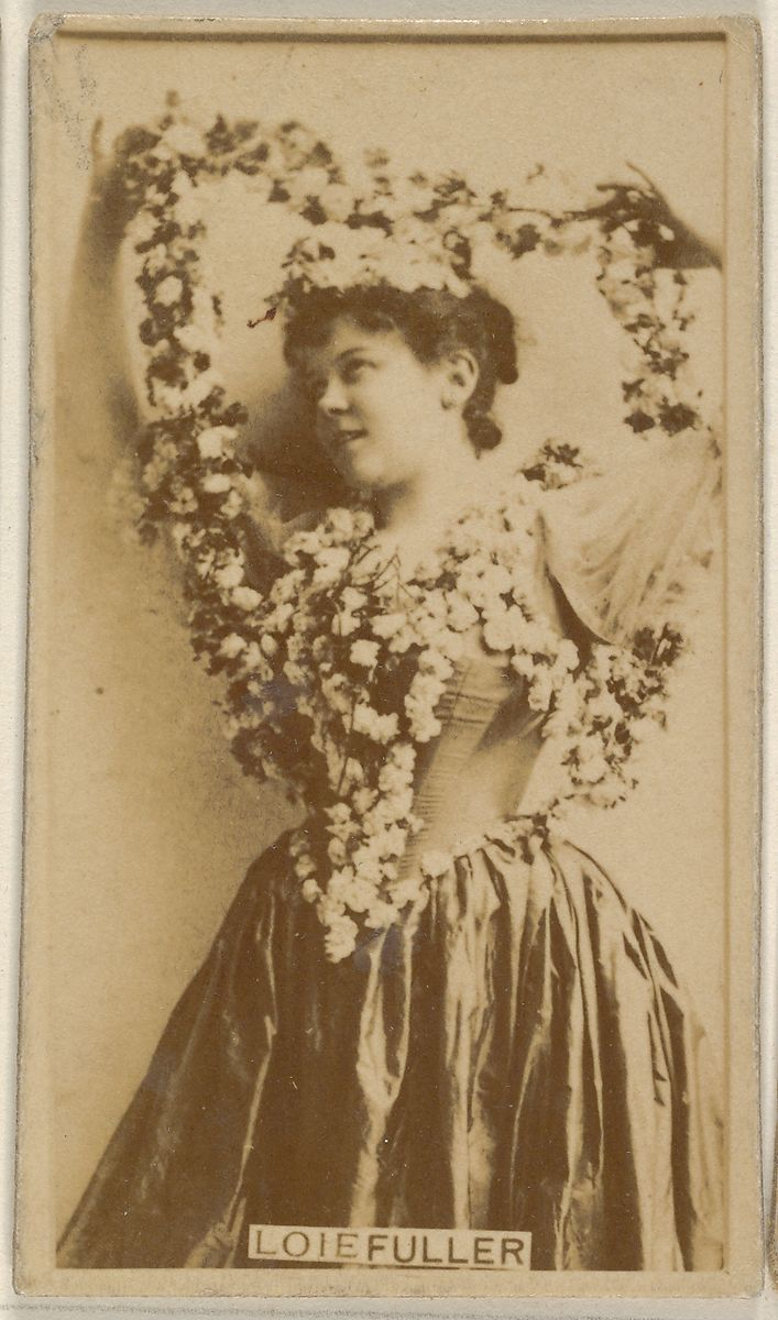 Issued by Allen & Ginter | Loie Fuller, from the Actors and Actresses series (N45, Type 8) for Virginia Brights Cigarettes | The Met