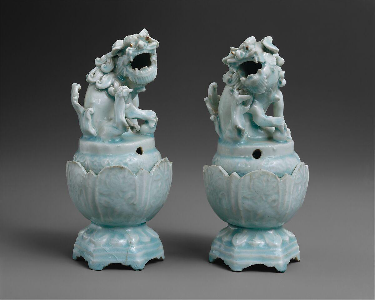 Incensarios chinos del siglo XIV. Imagen: Metropolitan Museum of Art.