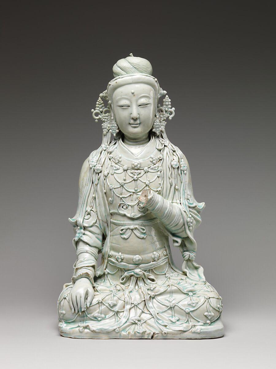 Seated bodhisattva, Ceramics