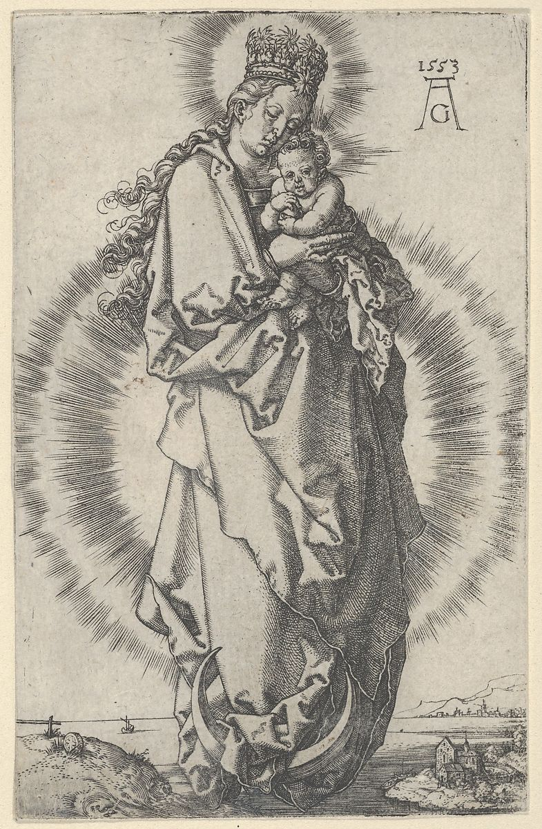 Heinrich Aldegrever | The Virgin and Child on a Crescent Moon | The Met