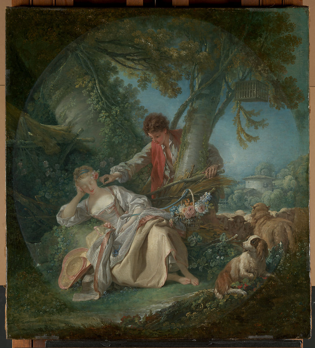 After Francois Boucher (French, 1703-1770) Landscape With Figures Oil On Canvas