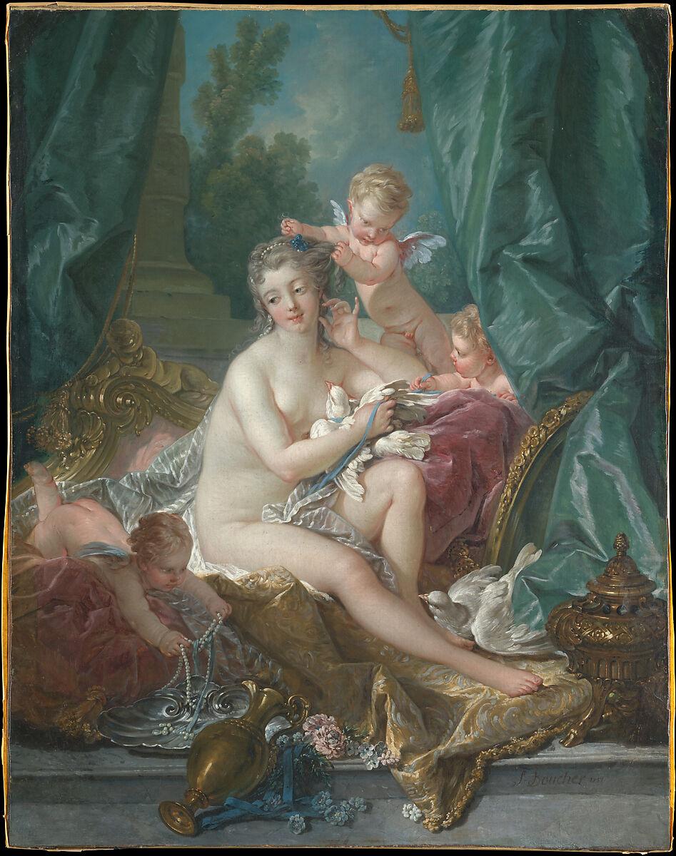 The Toilette of Venus, François Boucher (French, Paris 1703–1770 Paris), Oil on canvas