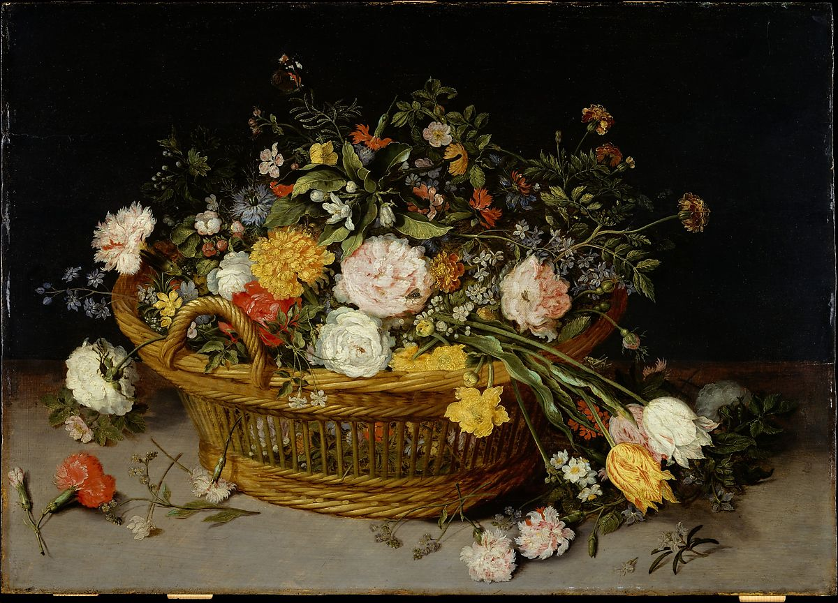 jan brueghel the younger a basket of flowers the met