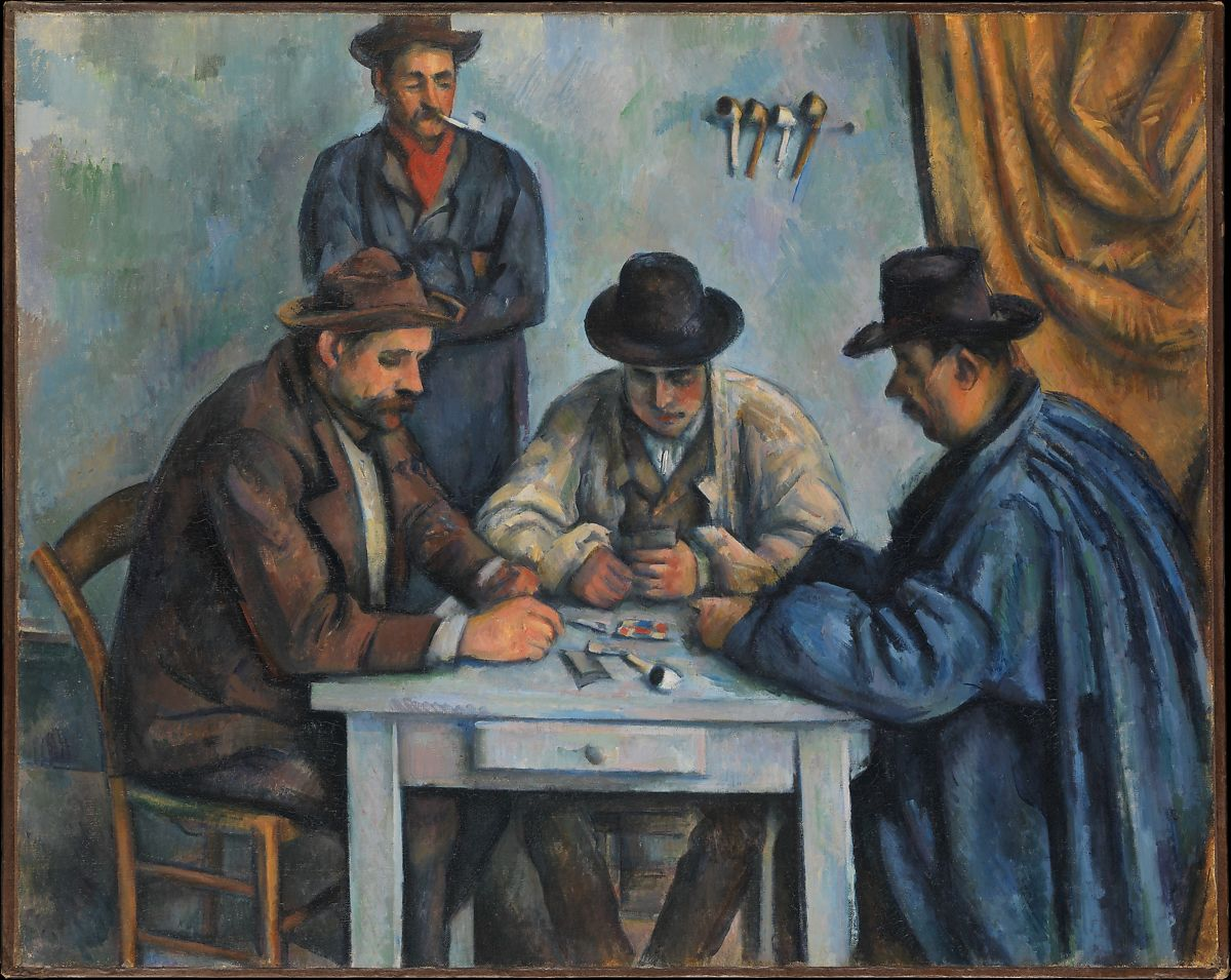 Paul Cézanne The Card Players The Met - Who painted the card players