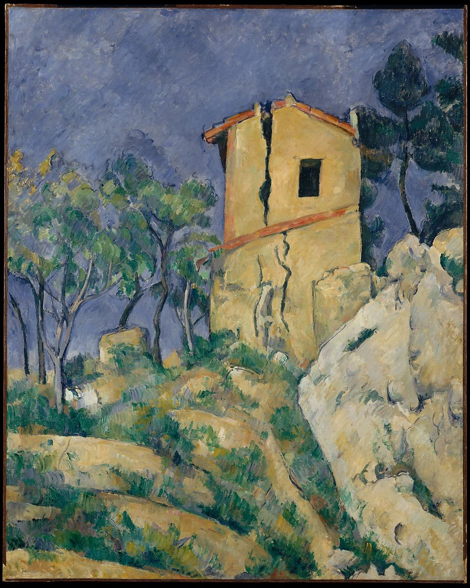 The House With Ed Walls Paul Cézanne French Aix En
