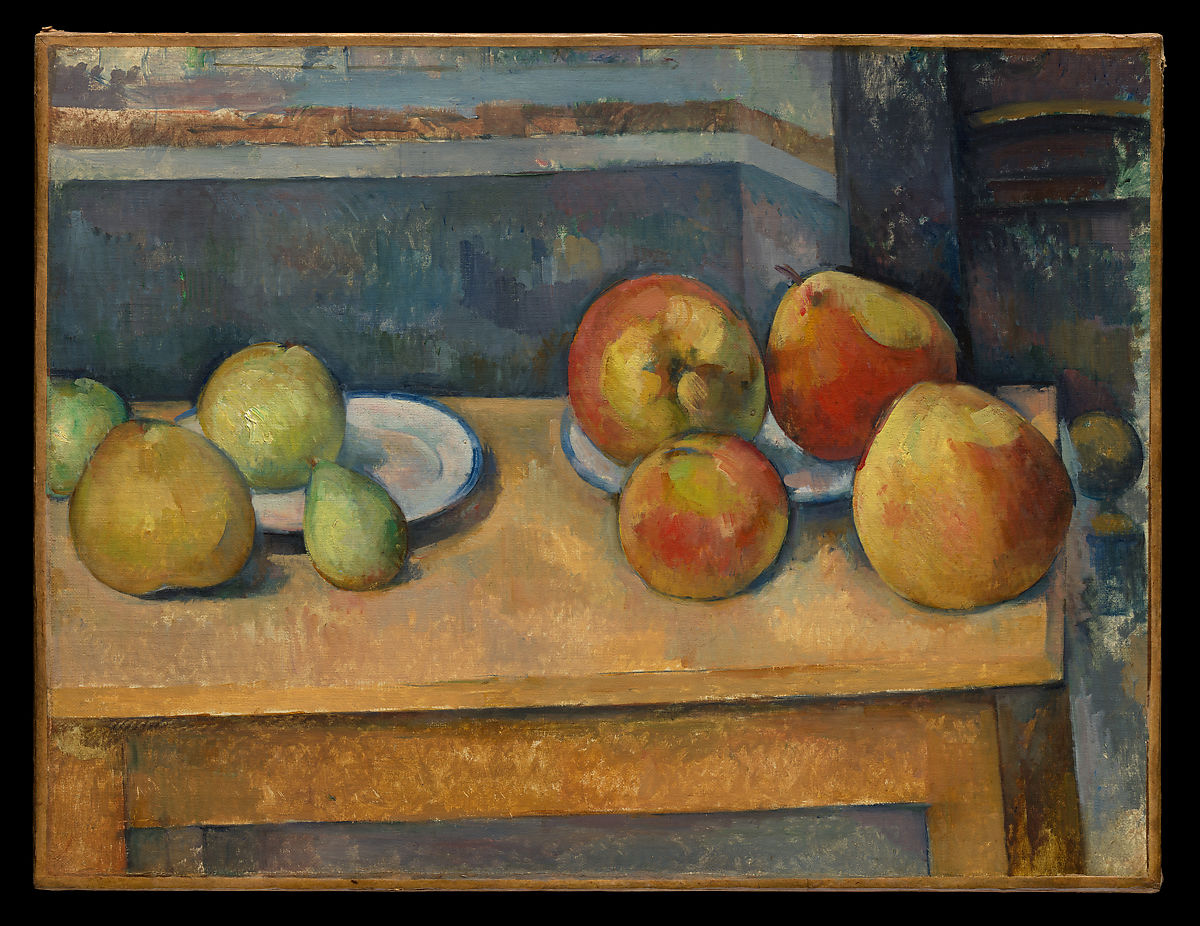 Still Life with Apples and Pears, Paul Cézanne (French, Aix-en-Provence 1839–1906 Aix-en-Provence), Oil on canvas
