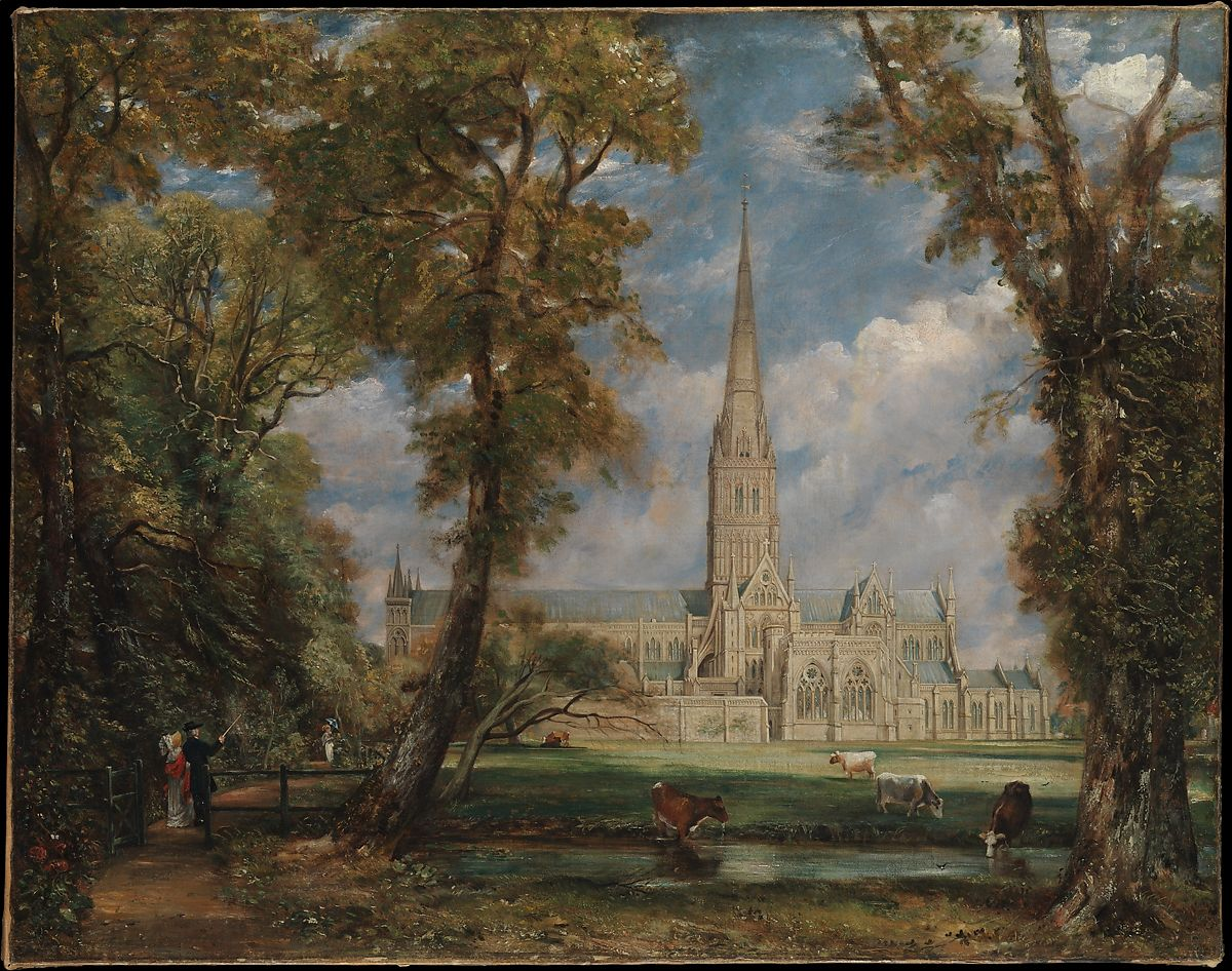 John Constable | Salisbury Cathedral from the Bishop\'s Grounds | The Met