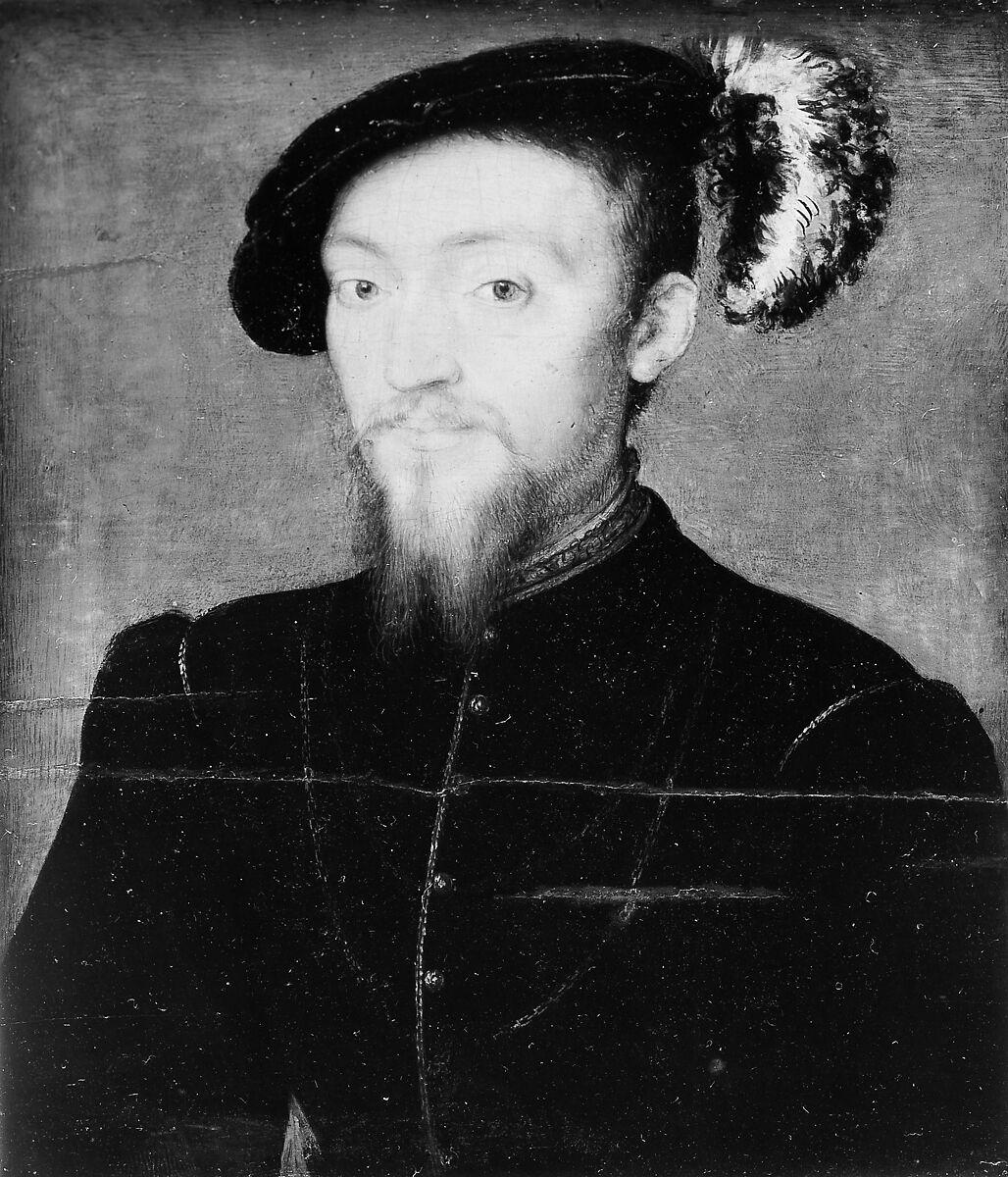 Portrait of a Man, Style of Corneille de Lyon (French, second quarter 16th century), Oil on wood